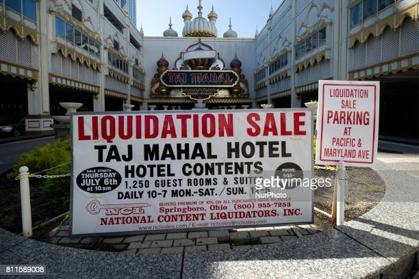 Members of the public browse hallways and some of the 1250 rooms during a large scale liquidation sale at the former Trump Taj Mahal Casino and...
