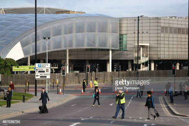 Members of the public make their way to work on May 23 2017 in Manchester England An explosion occurred at Manchester Arena as concert goers were...
