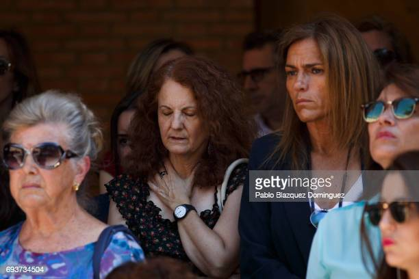 Members of the public observe a three minute silence outside Las Rozas council ahead of a vigil to honour London Bridge terror attack hero Ignacio...