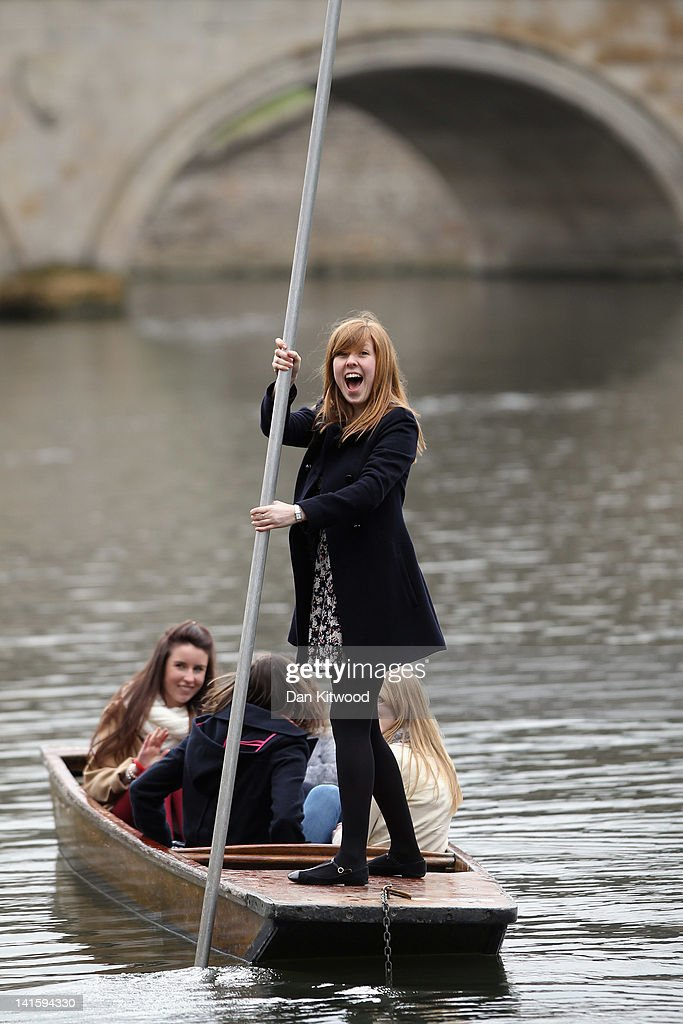 Members of the public punt along the river Cam on March 13, 2012 in Cambridge, Cambridgeshire. Cambridge has a student population in excess of 22,000 spread over 31 different independent Colleges across the city. The city is home to several famous University's, including The University of Cambridge, which was founded in 1209, and is ranked one of the top five universities in the world, King's College Chapel, and Trinity College. Famous alumni have included the likes of Charles Darwin, Isaac Newton, Samuel Pepys and David Attenborough.