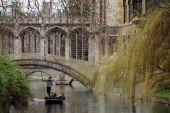 Members of the public punt along the river Cam on March 13 2012 in Cambridge Cambridgeshire Cambridge has a student population in excess of 22000...