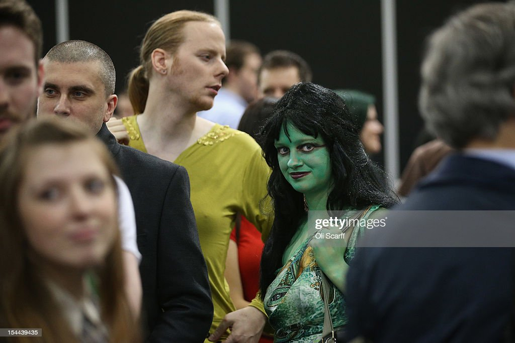 Members of the public, some dressed in character, attend the 'Destination Star Trek London' convention at the ExCeL centre on October 19, 2012 in London, England. The three-day convention, which opened to the general public today, will be attended by all fives actors who played captains throughout the 46 year-old series.