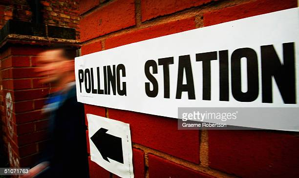 Members of the public turn up at local polling stations to cast their votes on July 15 2004 in Leicester South The Leicester South byelection was...
