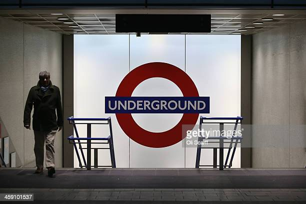 Members of the public use the London Underground in Kings Cross Station on December 23 2013 in London England With two days until Christmas day heavy...