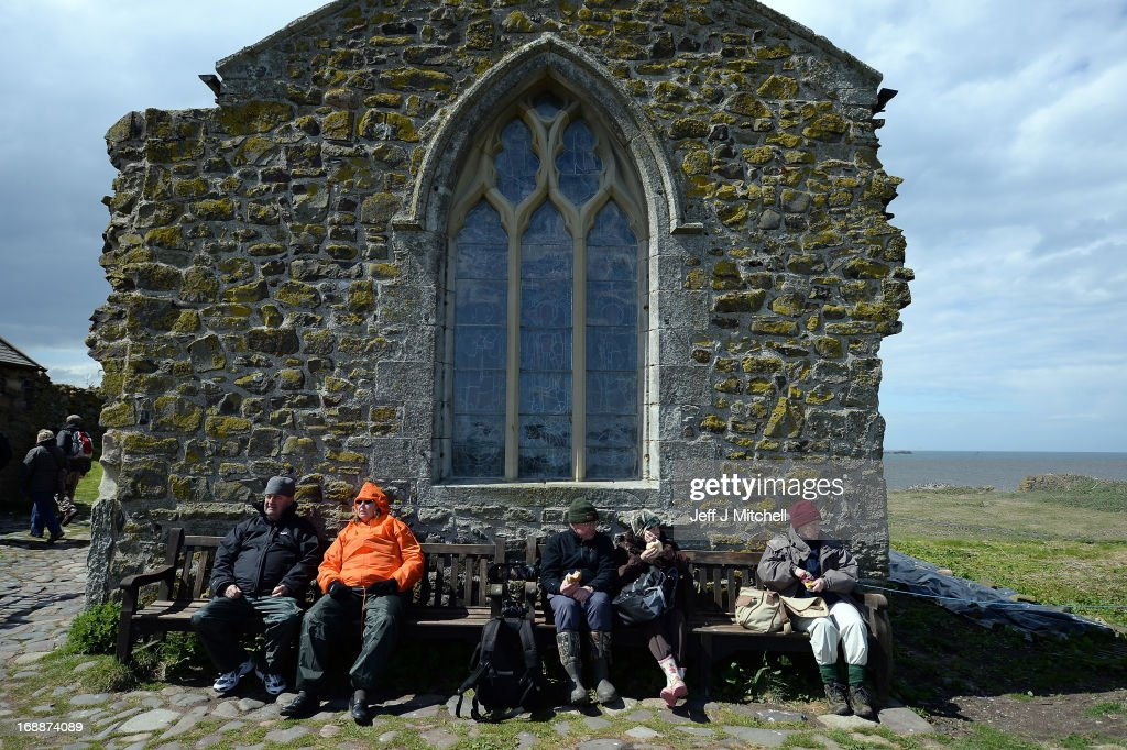 Members of the public visit the Farne Islands where Puffins are returning to their summer breeding grounds on May 16 2013 in the Farne Islands...