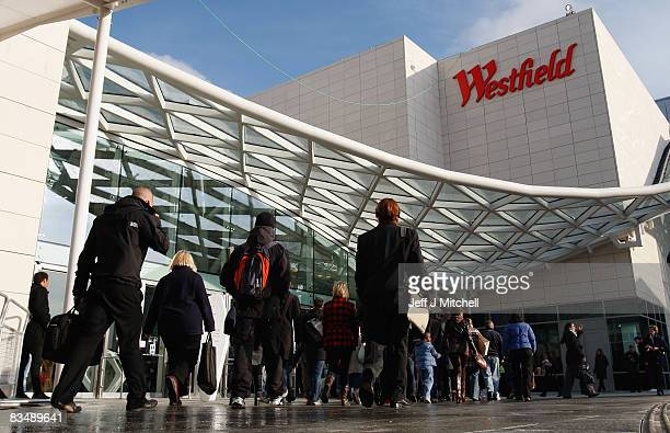 Members of the public visit the new Westfield shopping centre on October 30 2008 in England The store located at Shepards Bush is Europe's largest...