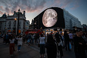 GBR: Piccadilly Art Installation Commemorates 50th Anniversary Of Moon Landings