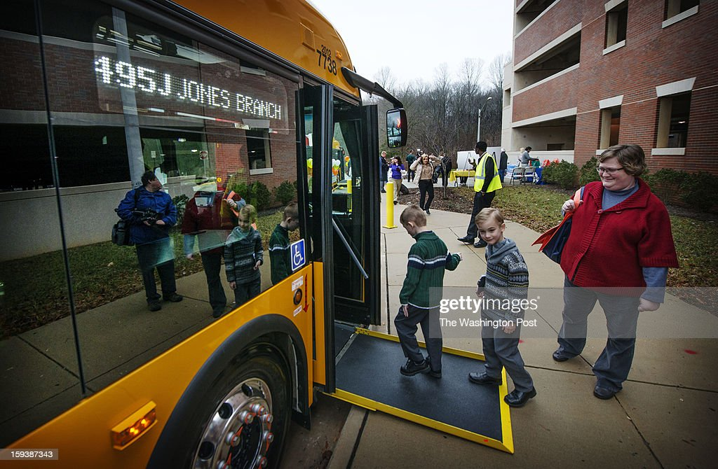 Members of the public were invited to take the inaugural ride on this Fairfax Conncetor to theTysons transit bus station at Jones Branch Drive in Tysons Corner on Saturday, January 13, 2013.