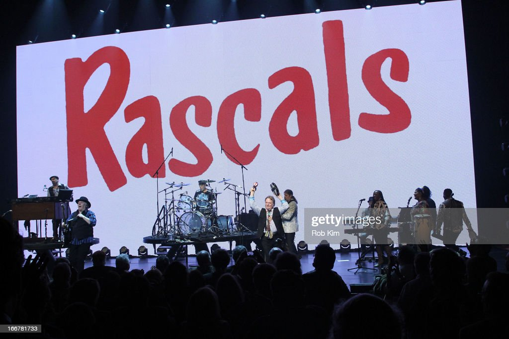 Members of The Rascals Felix Cavaliere, Gene Cornish, Dino Danelli and Eddie Brigati attend 'The Rascals: Once Upon A Dream' Broadway opening night at Richard Rodgers Theatre on April 16, 2013 in New York City.