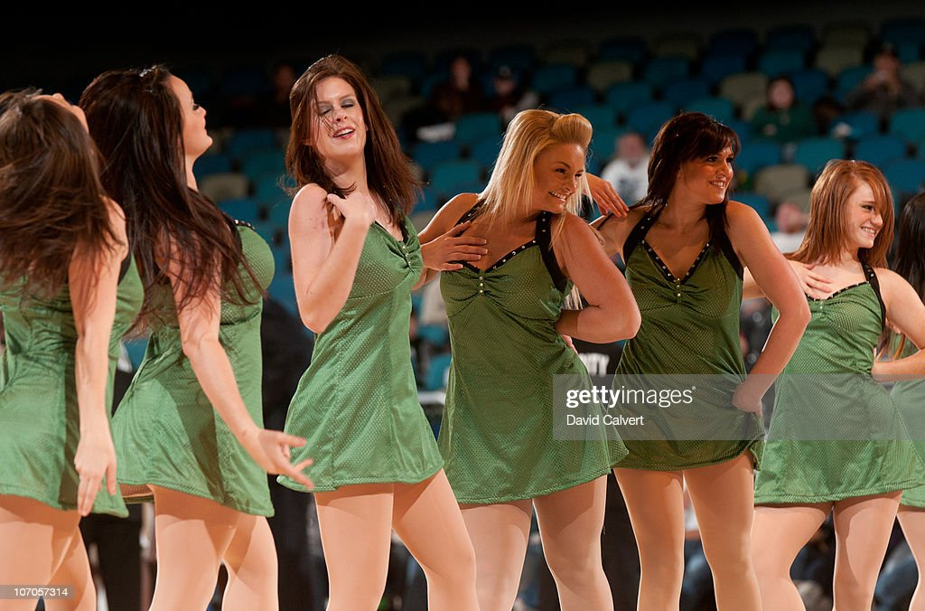 Members of the Reno Bighorns dance team perform during a timeout during the game between the Bighorns and the Utah Flash on November 21, 2010 at the Reno Events Center in Reno, Nevada.
