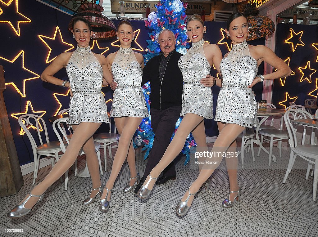 Members of The Rockettes Jeanie Logan, Corrinne Tighe, Owner of Serendipity Stephen Bruce, Brigid Cash, Allie Lehr, attend The Rockettes And Serendipity 3 Holiday Celebration at Serendipity 3 on November 20, 2012 in New York City.