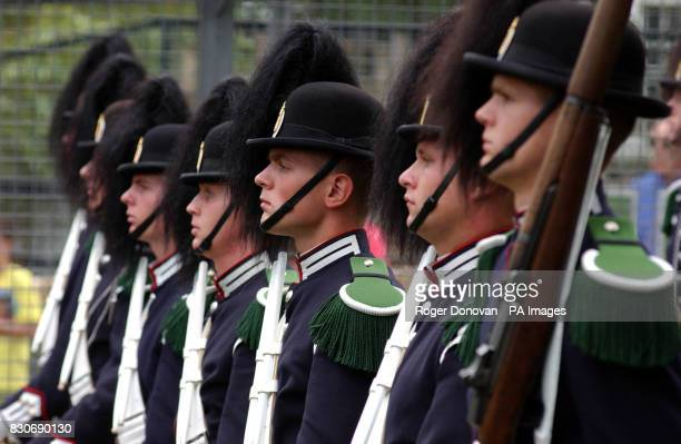 Members of The Royal Norwegian Guard on parade at Edinburgh Zoo in honour of King Penguin Nils Olav * The twoyearold arctic bird paraded his badge of...