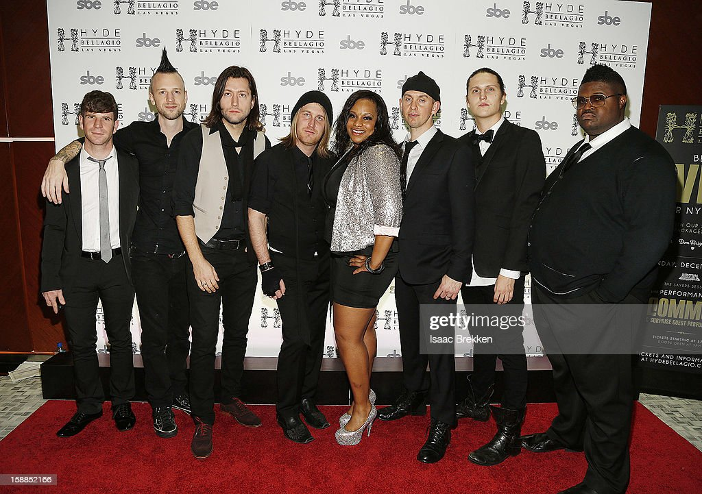 Members of the Sayers Club Band arrive at Hyde Bellagio at the Bellagio on New Year's Eve December 31, 2012 in Las Vegas, Nevada.