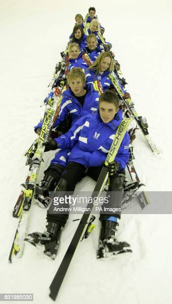 Members of the Scottish Alpine Ski team at the Xscape Entertainment and Leisure Centre in Glasgow