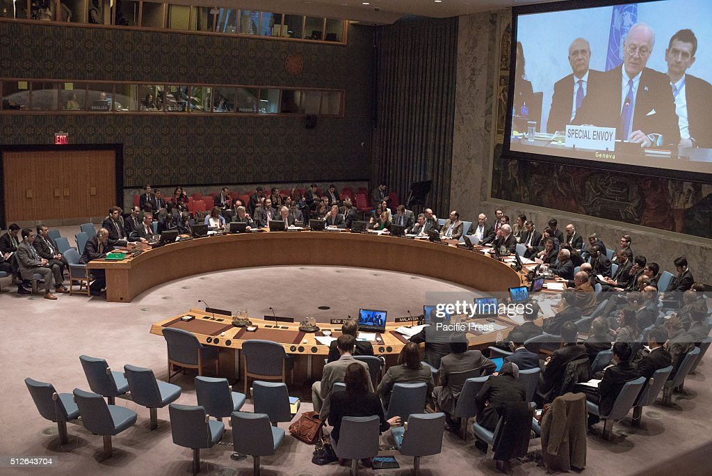 Members of the Security Council are briefed by UN Special Envoy Staffan de Mistura Following a videoconference briefing by UN Special Envoy for Syria...
