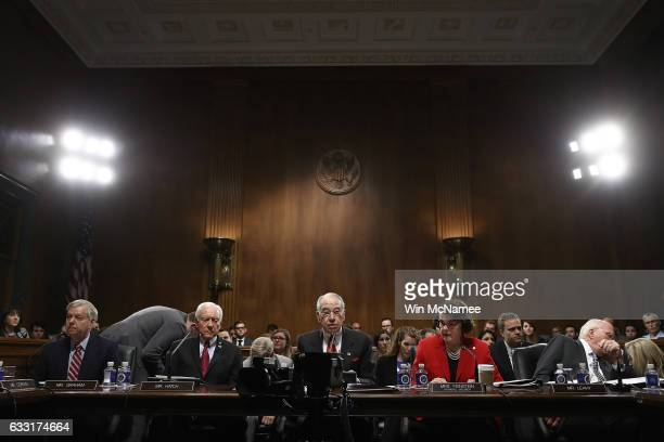 Members of the Senate Judiciary Committee particpate in the committee's 'markup' on the nomination of Sen Jeff Sessions to be the next Attorney...