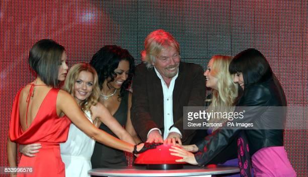 Members of the Spice Girls Victoria Geri Mel B Emma Bunton amp Mel C open Virgin Atlantic's New Terminal at Heathrow Airport with Sir Richard Branson