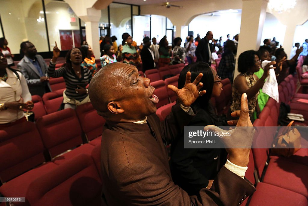 Members of the Staten Island Liberian community and other residents attend a 'War Against Ebola' fundraiser and concert at the Christ Assembly...