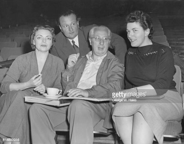 Members of the Stuttgart State Opera during rehearsals at the Royal Festival Hall in London 12th September 1955 From left to right soprano Martha...