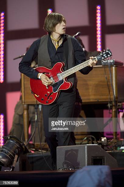 Members of the swedish band Mando Diao perform during the Live Earth concert at the HSH Nordbank Arena July 07 2007 in Hamburg Germany Launched by...