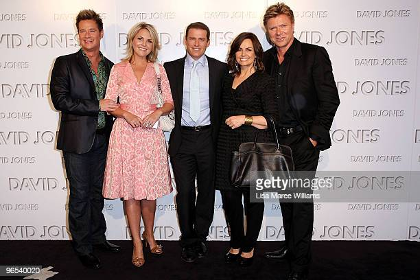 Members of the Today show Richard Reid Georgie Gardner Karl Stefanovic Lisa Wilkinson and Richard Wilkins arrive on the red carpet for the David...