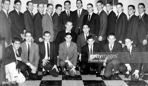 Members of the Trojan Club of Boston a young men's social club that helps to raise money for various charities pose for a portrait on Dec 15 1961