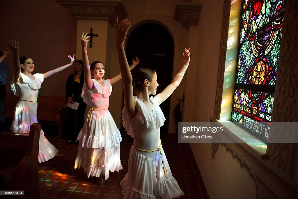 Members of the Tucson Dance Academy perform during an interfaith service held at St. Augustine Cathedral in memorial for the six people that lost their lives in last years deadly shooting January 8, 2012 in Tucson, Arizona. Memorial services will be held throughout the day in Tucson to commemorate the one year anniversary of a shooting rampage that killed six people and wounded more than a dozen more including U.S. Rep. Gabrielle Giffords (D-AZ).