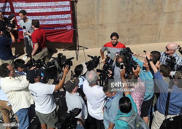 Members of the US Men's National Team speak to the media in Stanford California on Wednesday May 14 2014 In the upcoming World Cup 2014 the US is...