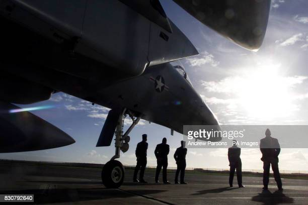 Members of the USAF 48th Fighter Wing from RAF Lakenheath in Suffolk Technical Sergeants Jonnie Fitts Brian Pollreis Eric Lewis and Airman First...