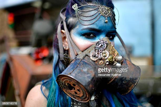 Members of the Wasteland Warriors from the movie 'MadMax' pose during the Wacken Open Air festival on August 4 2016 in Wacken Germany Wacken is a...