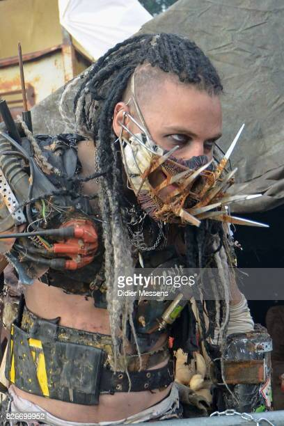 Members of the Wasteland Warriors from the movie 'MadMax' pose during the Wacken Open Air festival on August 3 2017 in Wacken Germany Wacken is a...