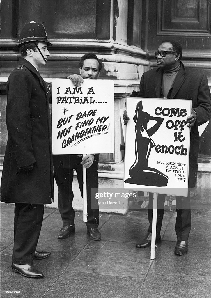 Members of the West Indian Standing Conference at the Home Office in Whitehall to protest against the second reading of the proposed Immigration Bill, 8th March 1971.