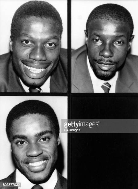 Members of the West Indies Touring test cricket team Curtley Ambrose and Rickie Richardson Gus Logie