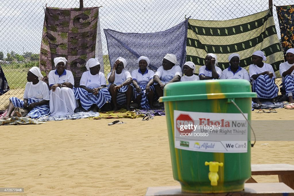 Members of the Women In Peacebuilding Network are sit on May 8 2015 in Monrovia If there are no new infections in the next 48 hours the World Health...
