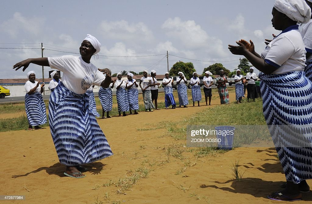 Members of the Women In Peacebuilding Network dance and pray on May 8 2015 in Monrovia If there are no new infections in the next 48 hours the World...