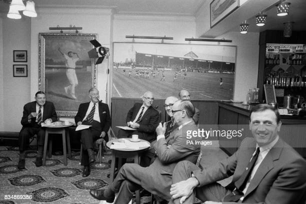 Members of the Yorkshire County Cricket Club committee meeting at Headingley to discuss what action to take following remarks made about the club by...