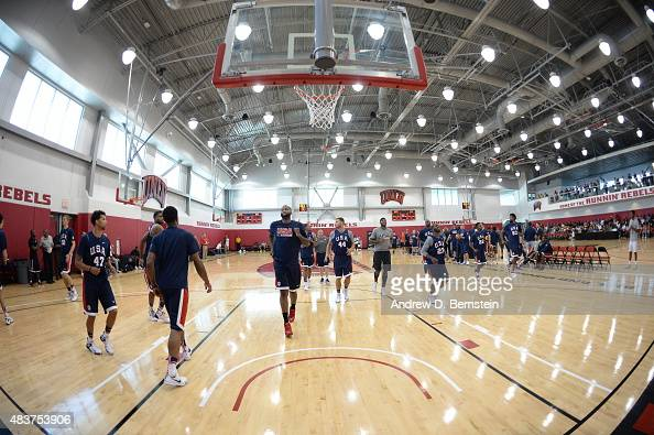 Members of USA Mens National Team participate in minicamp at UNLV on August 12 2015 in Las Vegas Nevada NOTE TO USER User expressly acknowledges and...