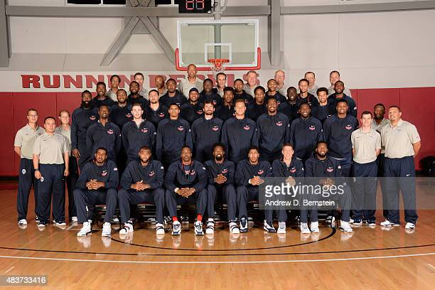 Members of USA Mens National Team pose for a team photo at UNLV on August 11 2015 in Las Vegas Nevada NOTE TO USER User expressly acknowledges and...