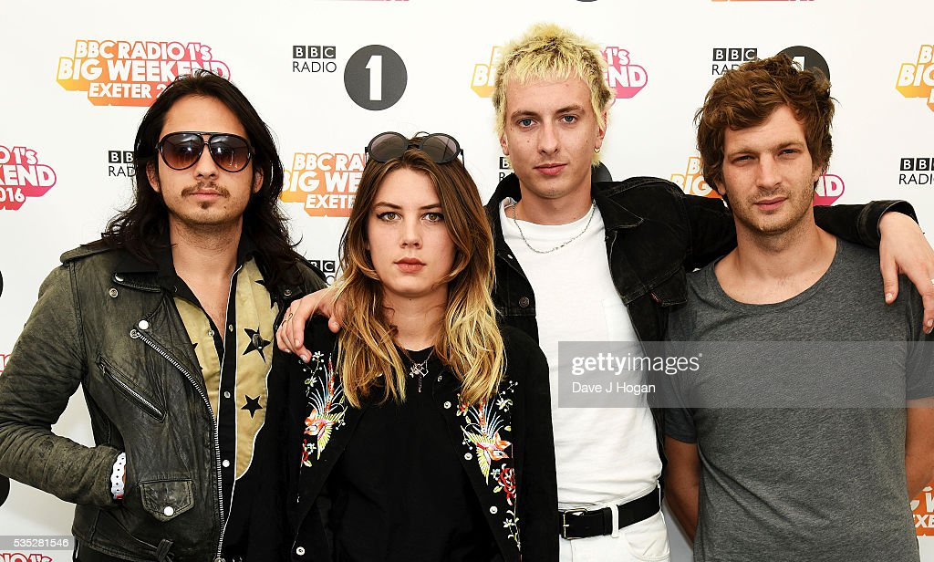 Members of Wolf Alice pose for a photo during day 2 of BBC Radio 1's Big Weekend at Powderham Castle on May 29, 2016 in Exeter, England.