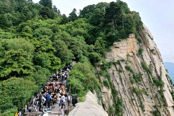 CHN: Concert Rehearsal On Huashan Mountain