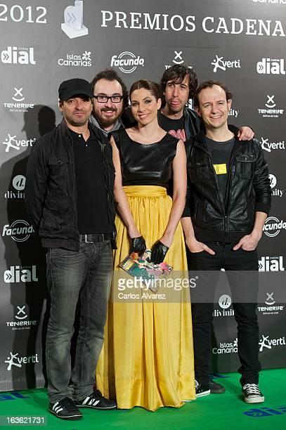 Members os Spanish band 'La Oreja de Van Gogh' attend Cadena Dial awards 2013 at the Adan Martin auditorium on March 13 2013 in Tenerife Spain