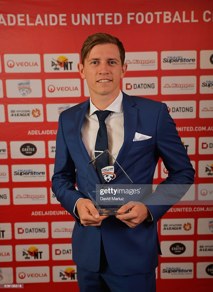 Members�� Player of the Year Award - Craig Goodwin during the 2016 Adelaide United Awards Night on May 4, 2016 in Adelaide, Australia.