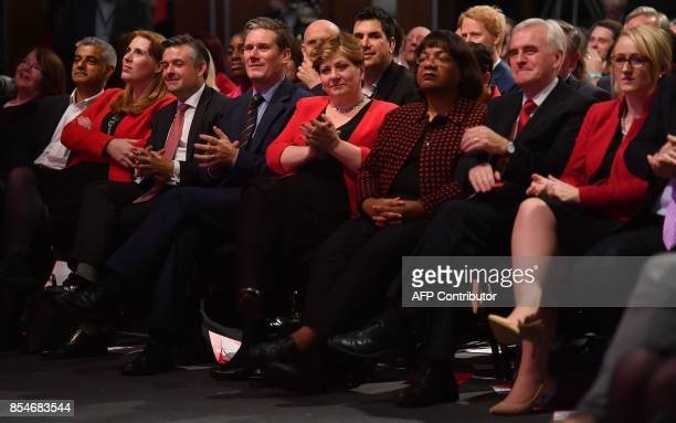 Memebrs of the shadow cabinet including Britain's opposition Labour party's Shadow Secretary of State for Exiting the European Union Keir Starmer...