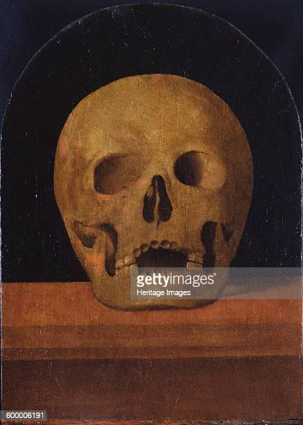 Memento mori The back side of the triptych 1500 Found in the collection of Museo Poldi Pezzoli Milan Artist Albertinelli Mariotto
