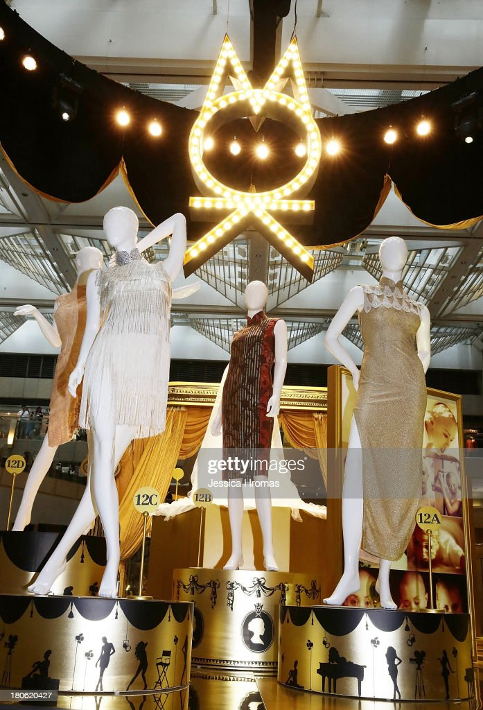 Memorabilia from films and performances worn by the singer and actress Karen Mok are now on display at the Karen Mok 20th Anniversary Exhibition at the Landmark building, Central on September 15, 2013 in Hong Kong, Hong Kong.