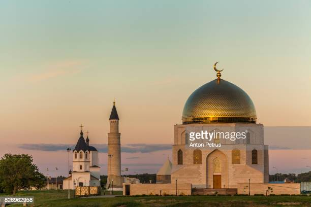 Memorable sign 'Acceptance of Islam', Bolgar, Tatarstan, Russia