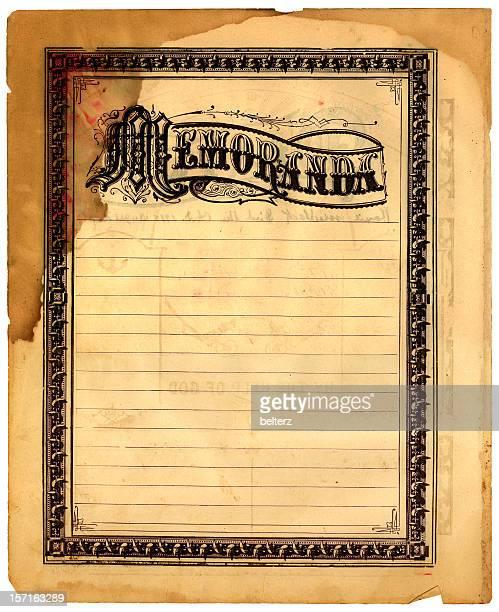 memoranda old bible page