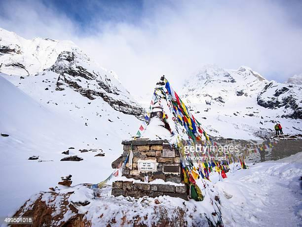 Memorial cairn at Annapurna Base Camp, Nepal