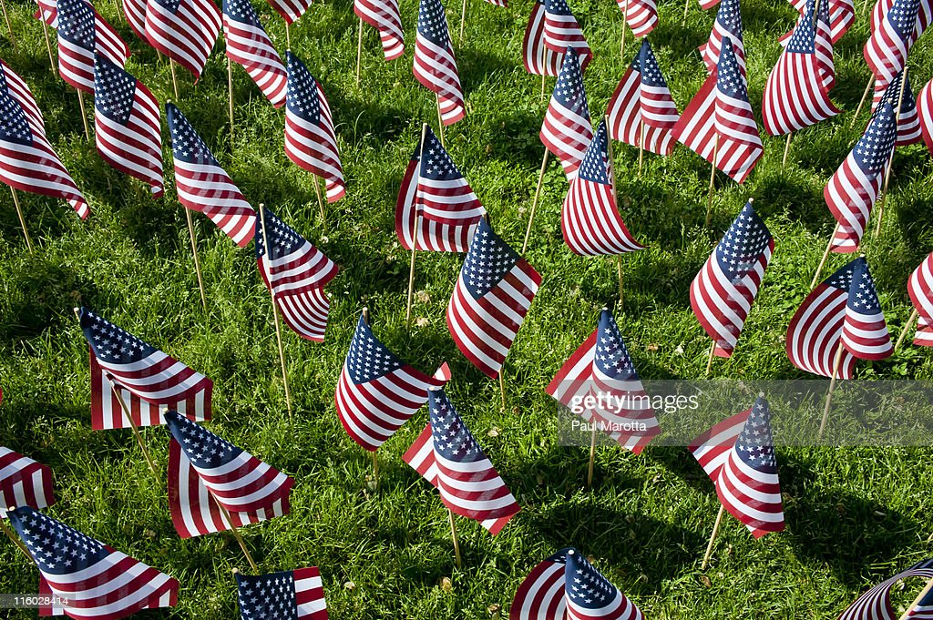 Memorial day Boston, 20,000 flags