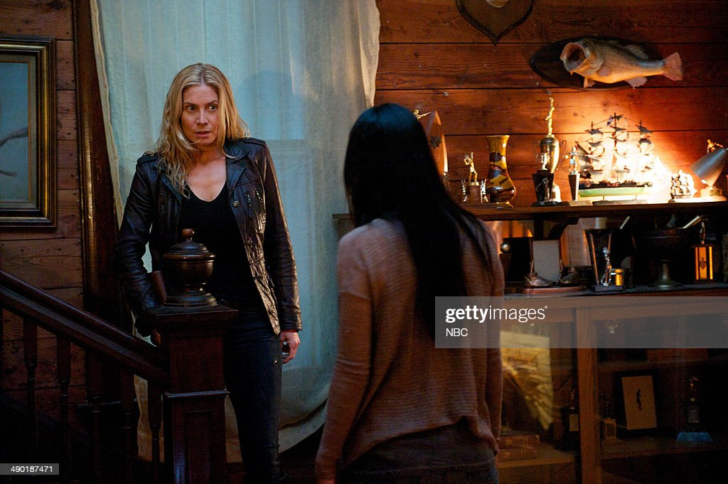 REVOLUTION -- 'Memorial Day' Episode 221 -- Pictured: (l-r) <a gi-track='captionPersonalityLinkClicked' href=/galleries/search?phrase=Elizabeth+Mitchell&family=editorial&specificpeople=2436267 ng-click='$event.stopPropagation()'>Elizabeth Mitchell</a> as Rachel Matheson, Maureen Sebastian as Priscilla Pittman --